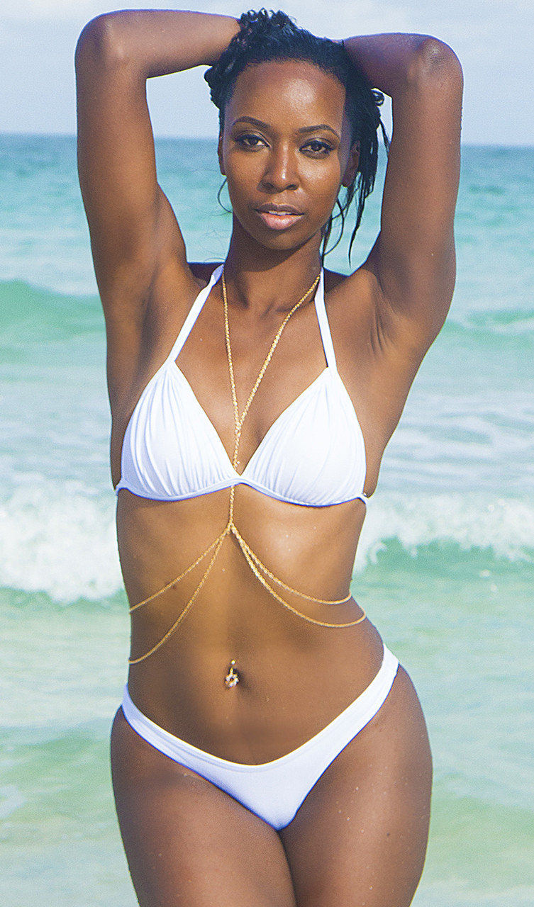 Triangle Push Up Bikini   Top