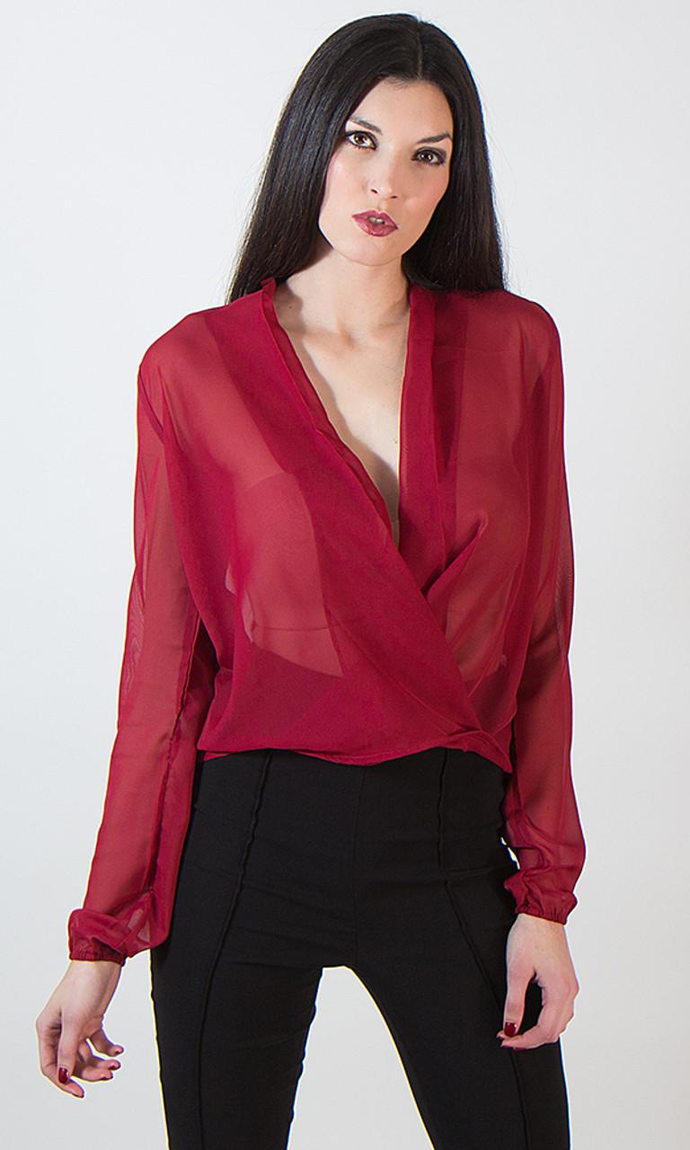 Sheer Wrap Shirt