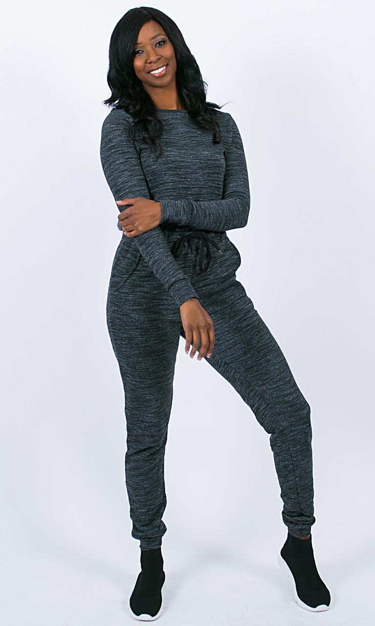 No Sweat Jumpsuit - Gray