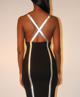 Mesh Inset Criss Cross Dress- Final Sale!