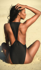 High Cut Low Cut One  Piece Swimsuit - Tall / Long Torso