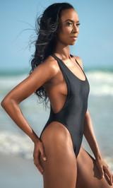 High Cut Low Cut One  Piece Swimsuit - Tall / Long Torso