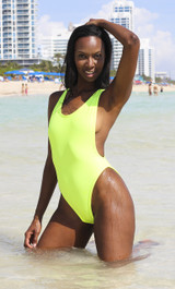 High Cut Low Cut One-Piece Swimsuit -    Tall/ Long Torso