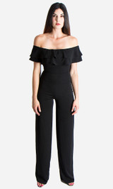 Ruffle Jumpsuit - Black