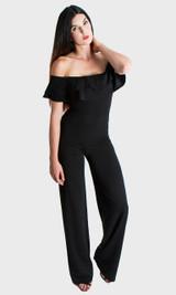 Ruffle Jumpsuit - Black