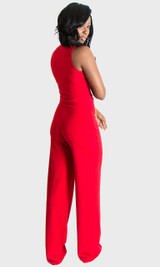 Button Up Jumpsuit - Red
