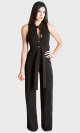 Button Up Jumpsuit - Black