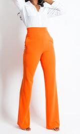 Paris Wide Leg Pants - Orange (Out of Stock)