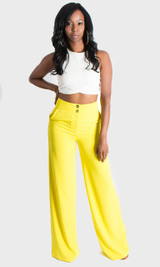 Double Button Pants - Yellow