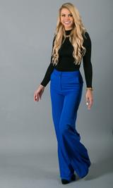 Double Button Pants - Blue