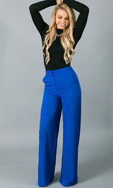 Double Button Pants - Blue