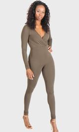 Catalina Wrap Jumpsuit - Olive