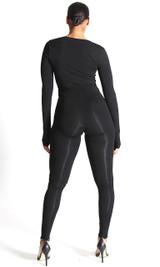 Catalina Wrap Jumpsuit - Black