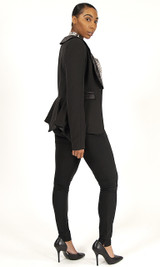 Peplum Blazer - Black