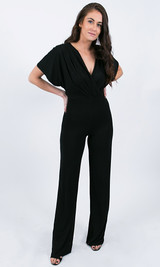 Julia Wrap Jumpsuit - Black