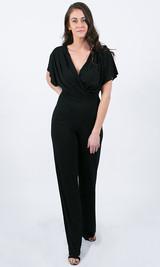 Julia Wrap Jumpsuit - Black