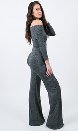 Piper Foldover Jumpsuit - Dark Gray