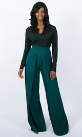 Windsor High Waist Pants - Deep Teal