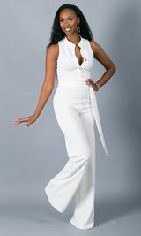 Button Up Jumpsuit - White