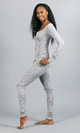 Let's Chill Sleep Jumpsuit - Gray