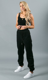 Sweatin' Me Sweatpants - Black