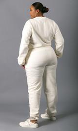 Sweatin' Me Sweatpants - White