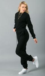 Sweatin' Me Crew Neck Sweatshirt - Black