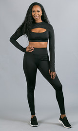 Work It Out Active Top - Black