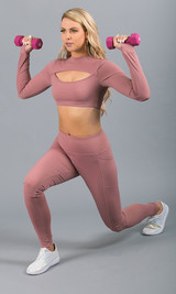 Work It Out Active Top - Blush