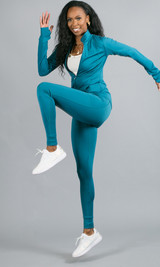 Grind Mode Leggings - Teal