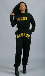 Savage Crewneck Sweatshirt - Black