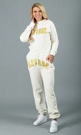 Savage Crewneck Sweatshirt - White