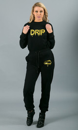 Drip Crewneck Sweatshirt - Black