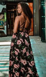 Bora Bora Maxi Dress - Black Floral