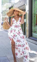 Bora Bora Maxi Dress - White Floral