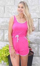 Keep It Sporty Romper - Pink