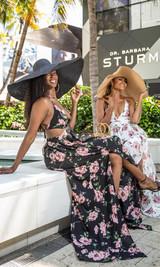 Vacation Vibes Oversized Beach Hat - Black
