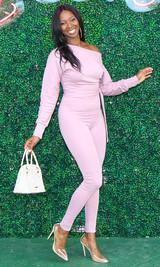 Jasmine Off Shoulder Jumpsuit - Mauve