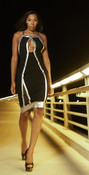 Mesh Inset Criss Cross Dress- Final Sale!