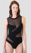 Mesh Geo One Piece Swimsuit - Tall/Long Torso