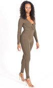 Catalina Wrap Jumpsuit - Olive