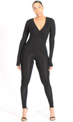 Catalina Wrap Jumpsuit - Black