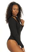 Tie Neck Bodysuit - Black