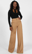 Double Button Pants - Tan