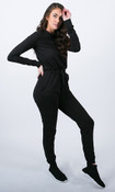No Sweat Jumpsuit - Black