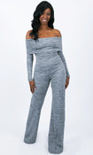 Piper Foldover Jumpsuit - Light Gray