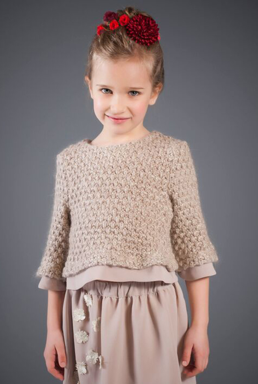Patachou knitted sweater with chiffon detail. 7c5c3e945