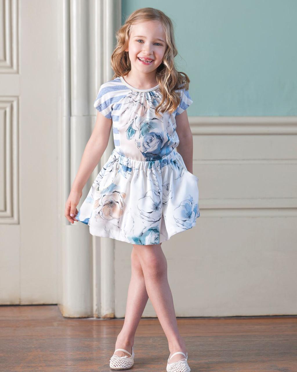 d11eed60a Patachou Floiral Top & Skirt Set - Le Petit Kids