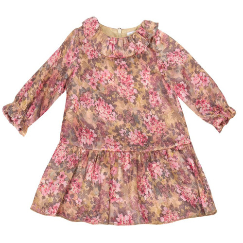 Patachou floral baby dress front view. 5d18e9979