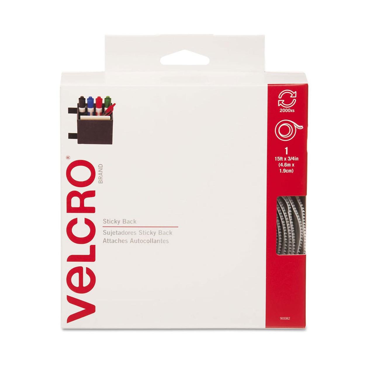 "3/4"" x 15' VELCRO® Brand Hook & Loop Tape - White / Velcro Fasteners"